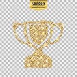 Guld blänker symbolen stock illustrationer