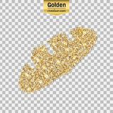 Guld blänker symbolen Fotografering för Bildbyråer
