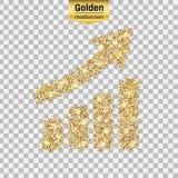 Guld blänker symbolen Arkivfoto