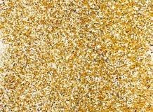 Guld blänker texturbakgrund, gnistrandeferiebakgrund arkivfoton