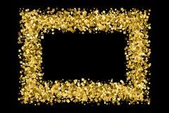 Guld blänker texturvektorn Royaltyfri Bild
