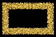 Guld blänker texturvektorn Royaltyfria Foton
