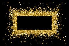 Guld blänker texturvektorn Arkivbilder
