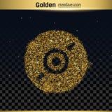 Guld blänker vektorsymbolen Royaltyfria Bilder