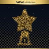 Guld blänker vektorsymbolen Royaltyfri Foto
