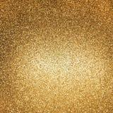 Guld- blanka lampor abstrakt bakgrundsferier Royaltyfri Foto
