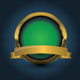 Guld- blanka moderna element. Guld- rengöringsdukknappar royaltyfri illustrationer