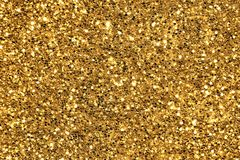 Guld blänker bakgrund Royaltyfria Bilder