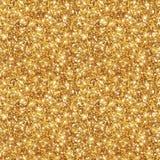 Guld blänker textur, sömlös paljettmodell Arkivbilder