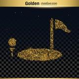 Guld blänker vektorsymbolen Arkivbilder