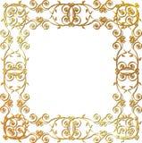 Guld- blom- inramar Royaltyfri Fotografi