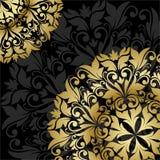 Guld- blom- mönstrar Arkivbild
