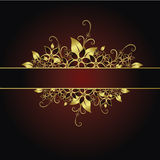 guld- blom- ram Royaltyfri Bild