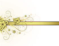 guld- blom- ram Fotografering för Bildbyråer