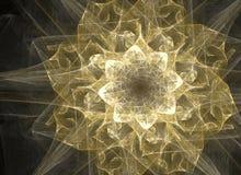 Guld- blomma vektor illustrationer