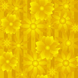 Guld- blommabakgrund Royaltyfria Bilder