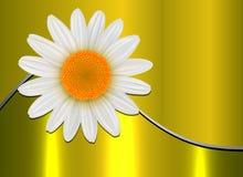 Guld- blommabakgrund royaltyfri illustrationer