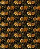 Guld blommar modellen Vektor Illustrationer
