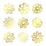 Guld- blommor Royaltyfri Foto