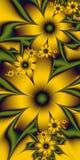 Guld- blommor Royaltyfria Foton
