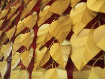 Guld- Bodhi sidor Arkivfoto