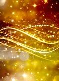 Guld- bokehbakgrund Arkivfoto