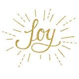 Guld- bokstäver för glädje Arkivbilder