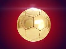 guld- boll framförande 3d Fotografering för Bildbyråer