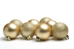 Guld- bollar Arkivfoton