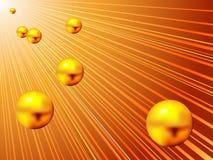 guld- bollar Fotografering för Bildbyråer