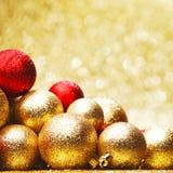 guld- bolljul Fotografering för Bildbyråer