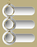 guld- bolljul royaltyfri illustrationer