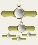 guld- bolljul stock illustrationer