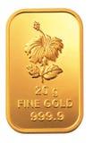 Guld- bomma för Royaltyfri Fotografi