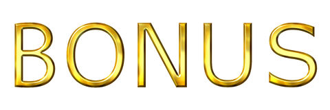 guld- bonus 3d stock illustrationer