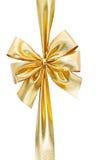 guld- bow Fotografering för Bildbyråer
