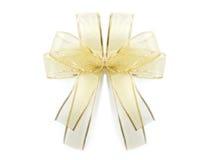 guld- bow Arkivfoto