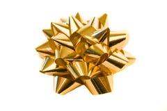 guld- bow Arkivbilder