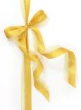 guld- bow royaltyfria foton