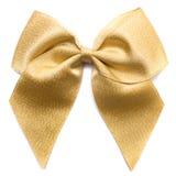 guld- bow Royaltyfri Bild
