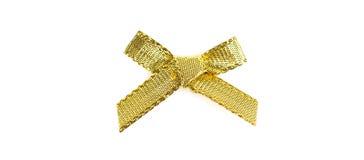 guld- bow Royaltyfri Foto