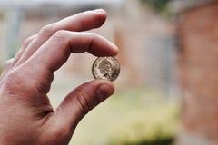 Guld- brittiskt pund Arkivbilder