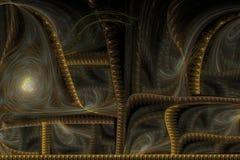 Guld- brokad för abstrakt bild Royaltyfri Bild