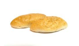 Guld- brunt ovalt bröd Fotografering för Bildbyråer