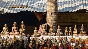 Guld- buddha bild för souvenir i myanmar Fotografering för Bildbyråer