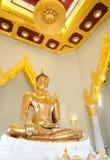 Guld- Buddha, fast guld - Thailand Royaltyfri Fotografi