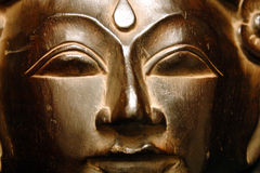 guld- buddha framsida Royaltyfri Bild