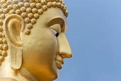 Guld- Buddha huvud Arkivfoto