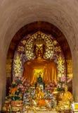 Guld- Buddha på Wat Chet Yot Chiang Mai Arkivfoto