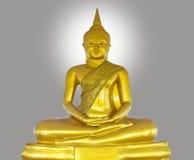 Guld- buddha staty Arkivfoto